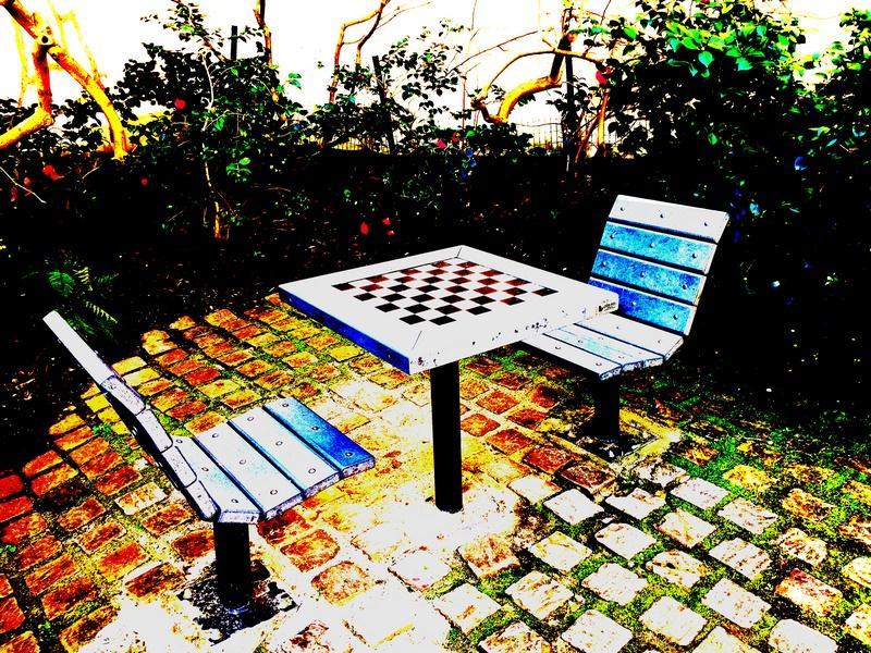 Square Anne Franck - Table d'échec ... avec un peu de Gimp