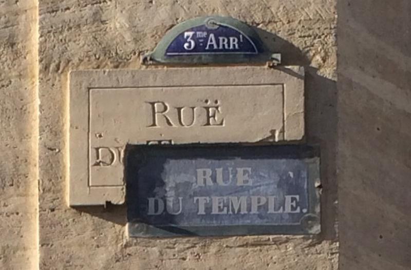 Rüe (!) du Temple