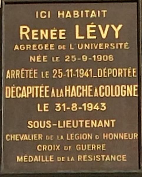 Renée Lévy - 6 rue de Normandie