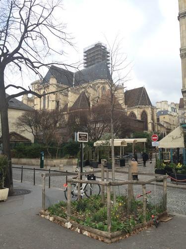Église Saint-Gervais trois quarts AR