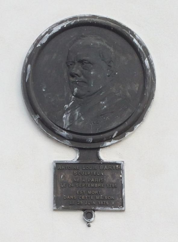 Barye Plaque Commémorative