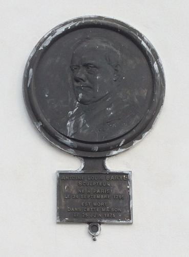 Plaque commémorative Barye