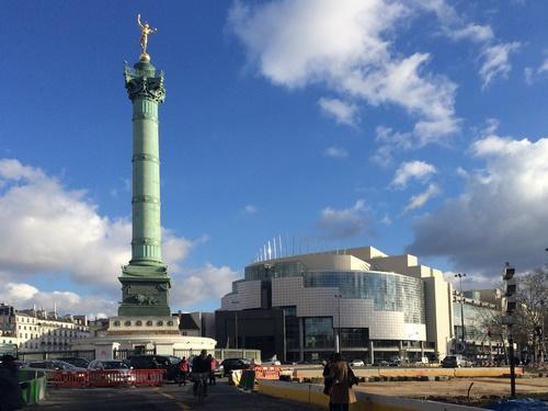 Bastille, Colonne et Opéra
