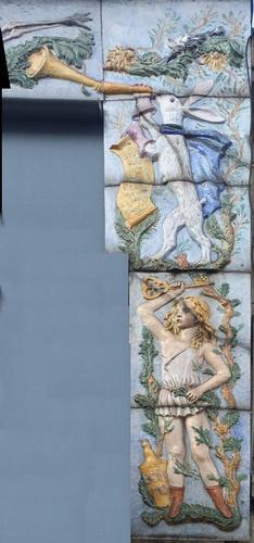 Céramique Alice au Pays des Merveilles - Détail